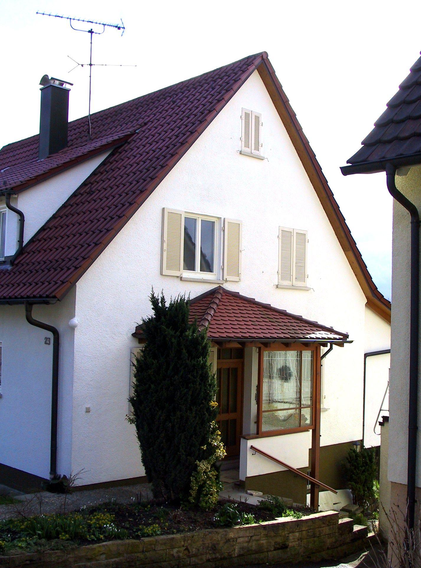 Vordach Walmdach 9 - Holzbau Straub